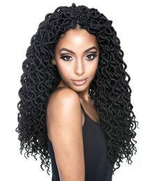 "Mane Concept Hair Afri Naptural Curled Faux Locs 18"""