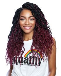 AfriNaptural 3X ( multi-pack ) PRE-STRETCHED WAVY BOX BRAID 14""