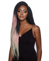 "Afri-Naptural - 3X Pre-Streched Chubba Senegal Twist 24"" - color T1B/PINK/613"