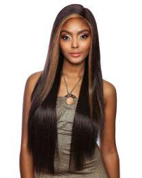 "MELANIN QUEEN Human Hair Style Mix - 5"" Deep Lace Part - Secret Straight 30"""
