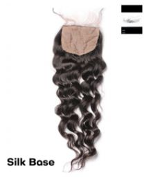 "100% Virgin Hair Silk Base Closure Deep Wave  4""x 4"""