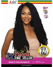 "AfriNaptural 2X YUCCA BOX BRAID 20"""