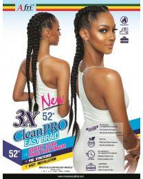 "AfriNaptural - 3X CLEAN-PRO Easy Braid 52"" - color 1B ( Natural Black )"