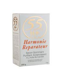 55H+ Harmonie Réparateur Savon Gommant / Exfoliating Soap 7oz / 200g