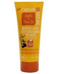 Creme of Nature Jojoba & Olive Oil Moisture-Active Deep Conditioning Treatment 200 ml