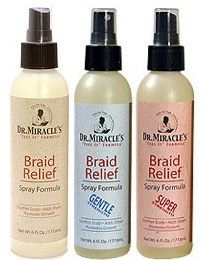 Dr. Miracles Braid Relief Spray Formula
