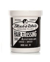 Black and White Genuine Pluko Hair Dressing Pomade 200 ml