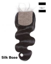 "100% Virgin Hair Silk Base Closure Body Wave  4""x 4"""