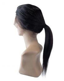 Human 100% Human Hair Shri 360° Front Lace Wig - Straight / Steil