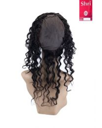 Indian Shri 100% Human Hair 360º Frontal met Cap - Deep Wave