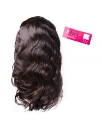 "Human 100% Human Hair Shri 13""x6"" Front Lace Wig - Body Wave / Slag"