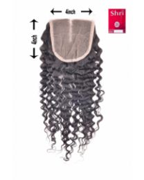 Indian Shri 100% Human Hair Closure - Jerry Curl