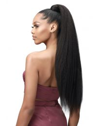 "Boss Up Wrap Pony - Kinky Perm Straight 30"" - color 1B"