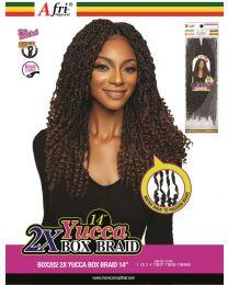 """ManeConceptHair AfriNaptural - 2X YUCCA BOX BRAIDS 14"""""""