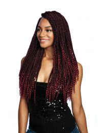 AFRI-NAPTURAL® 3X ( multipack ) COILY ENDS BOX BRAID 18""