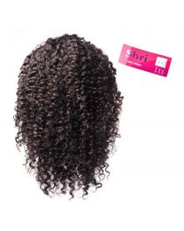 "Human 100% Human Hair Shri 13""x6"" Front Lace Wig - Jerry Curl / Kleine Krul"