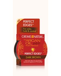 Creme of Nature - Argan Oil Perfect Edges™ Dark Brown  -  2.25oz - 64 gr