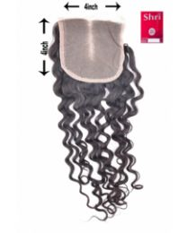 Indian Shri 100% Human Hair Closure - Deep Wave