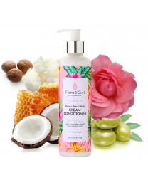 Flora & Curl - HYDRATE ME Organic Rose & Honey Cream Conditioner - 10.1oz / 300ml