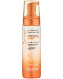 Giovanni Cosmetics 2Chic Tangerine & Papaya Butter Ultra Volume Foam Styling Mousse