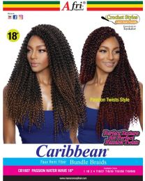Afri Naptural Caribbean CB1807 Passion Water Wave 18""
