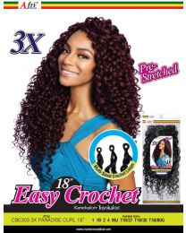 Afrinaptural Easy Crochet Pre-Streched 3X PARADISE CURL 18""