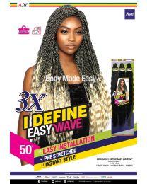 Mane Concept - AFRI-NAPTURAL® - 3 x I DEFINE EASY BRAID - color 1B