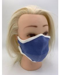 Covid-19 approved face mask with certificate - 5 pcs/bag - color Blue