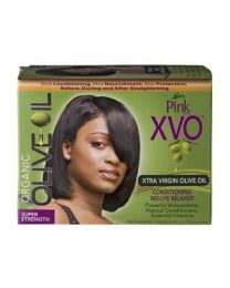 Pink Extra Virgin Olive Oil Super Conditioning No Lye Relaxer