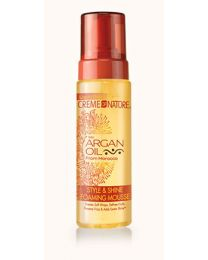 Creme of Nature - Argan Oil Style & Shine Foaming Mousse 207 ml