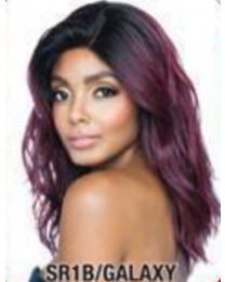 "Red Carpet 4""x4"" Free Flow Part Lace Wig - Tracee - color SR1B/GALAXY"