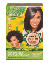 SOFT & BEAUTIFUL BOTANICALS SHEA BUTTER REVERSIBLE STRAIGHTENING SYSTEM KIT