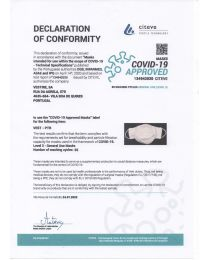 Covid 19 - approved face mask with certificate - 5 pcs/bag - color Beige