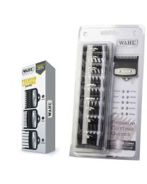 Wahl Premium Cutting Guides Pack of 3—sizes #½ (1.5 mm), #1 (3 mm) and #1½ (4.5 mm)