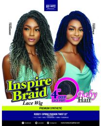 RED CARPET INSPIRE BRAID LACE PART - SPRING PASSION TWIST 22""