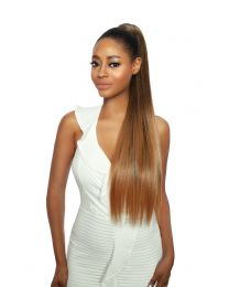 "SUPER LONG STRAIGHT SLEEK BASE COVERED PONYTAIL - KRISSY 30"" - color 1B"