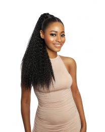 "SUPER LONG STRAIGHT SLEEK BASE COVERED PONYTAIL - JHENE 24"" - color 1B"